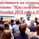 Аудиторская фирма «ТИМС» ПРИГЛАШАЕТ на семинар в формате «Круглого стола», который будет проходить 21 декабря 2018 года.
